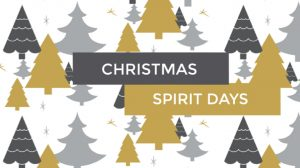 Christmas Spirit Days-December 16-20, 2019